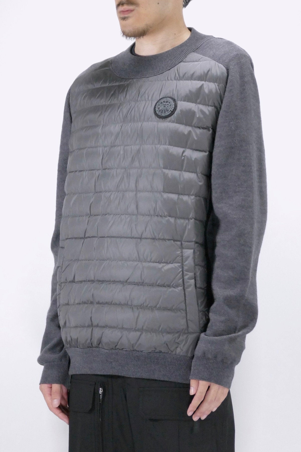 Canada Goose Mens Knit Hybridge Pullover Reversible Iron Grey