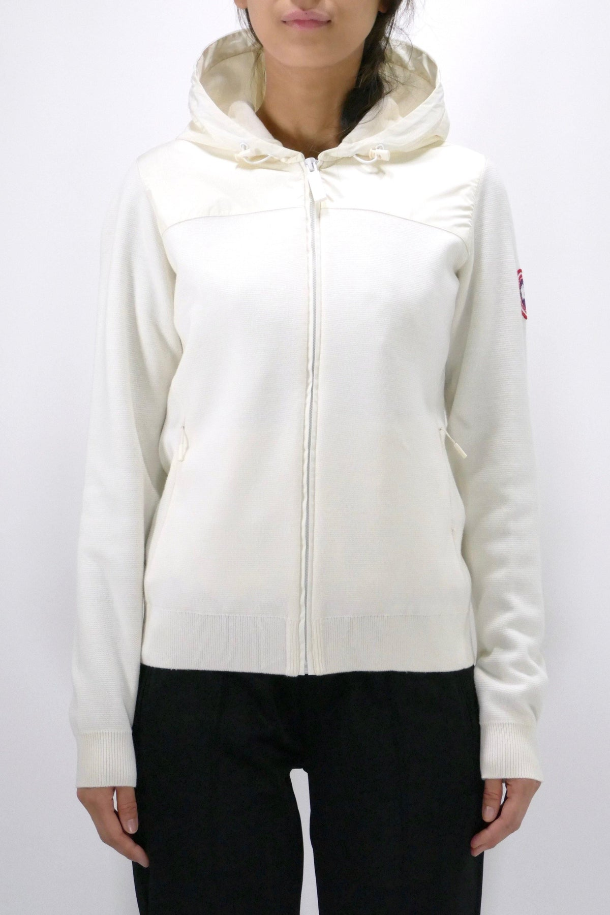 Canada Goose Womens Knit Windbridge Hoody - Cotton Grass