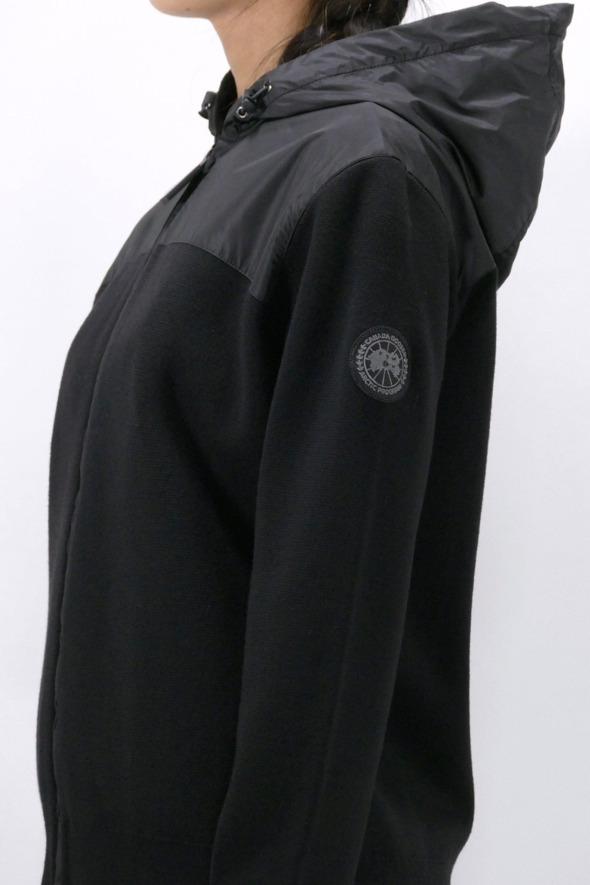 Canada Goose Womens Knit Windbridge Hoody Black Label - Black