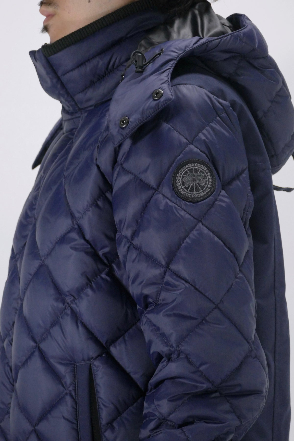 Canada Goose Mens Coat Hendriksen Black Label - Admiral Blue