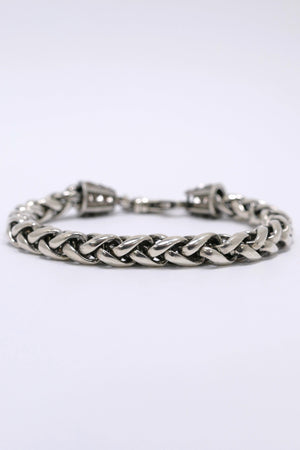 Emanuele Bicocchi Small Wheat Chain Bracelet Sterling Silver