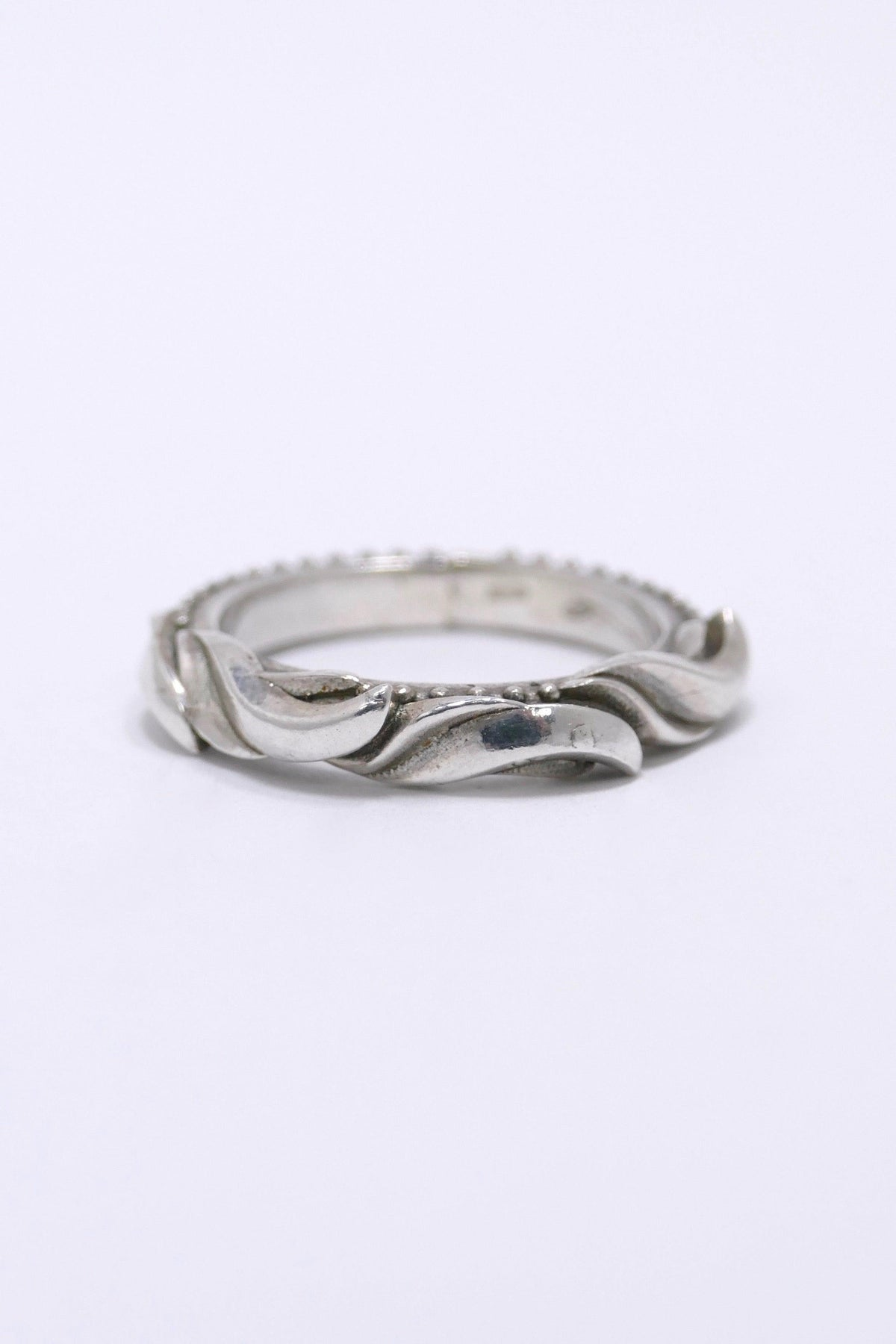 Emanuele Bicocchi Engraved Ring Sterling-Silver