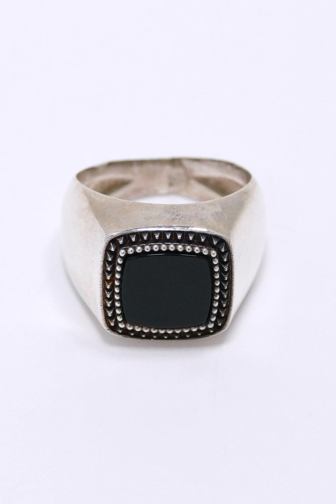 Emanuele Bicocchi Ring With Onyx Sterling Silver