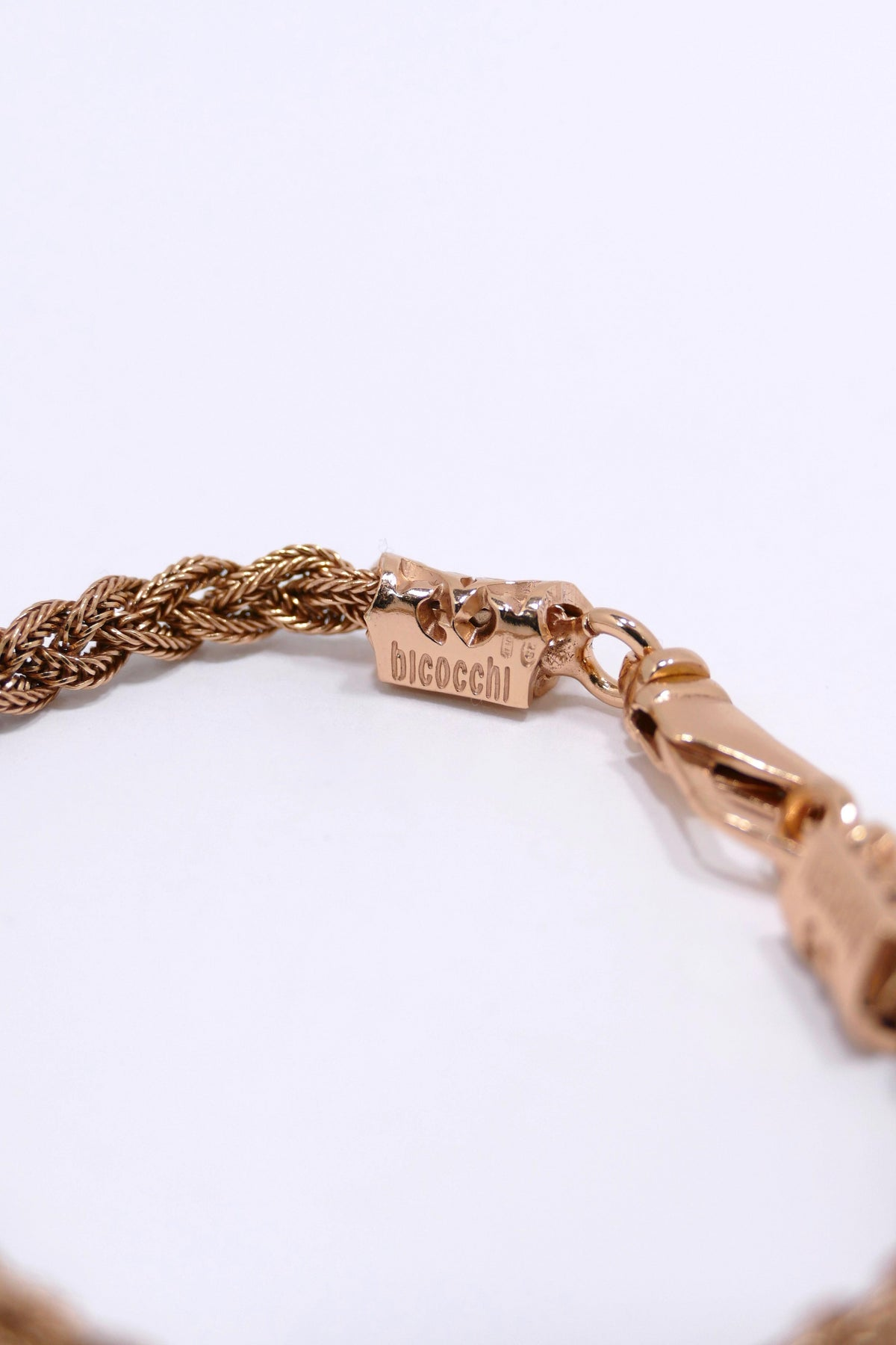 Emanuele Bicocchi Tiny Rose Gold Braided Bracelet