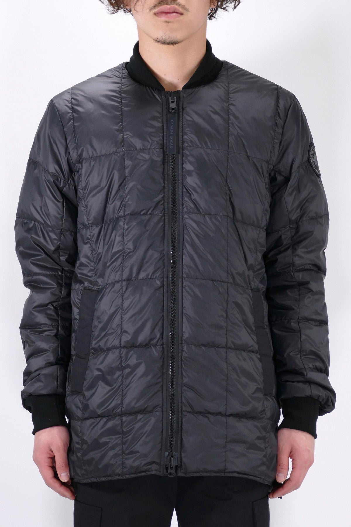 Canada Goose Mens Lite Jacket Harbord Black Label - Black