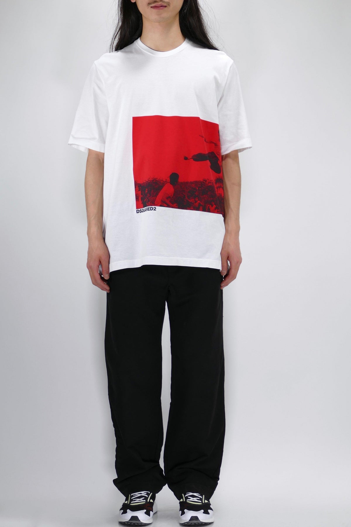 DSQUARED2 Slouch Fit Bruce Lee Graphic T-Shirt White