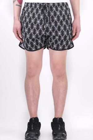 Neil Barrett All Over Monogram Swim Shorts Black