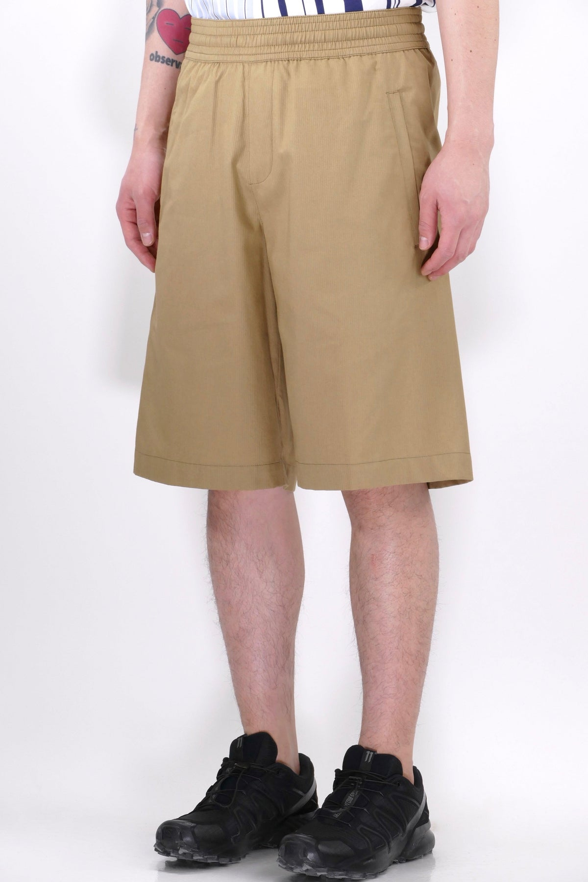 Neil Barrett Oversize Workwear Shorts Biscuit