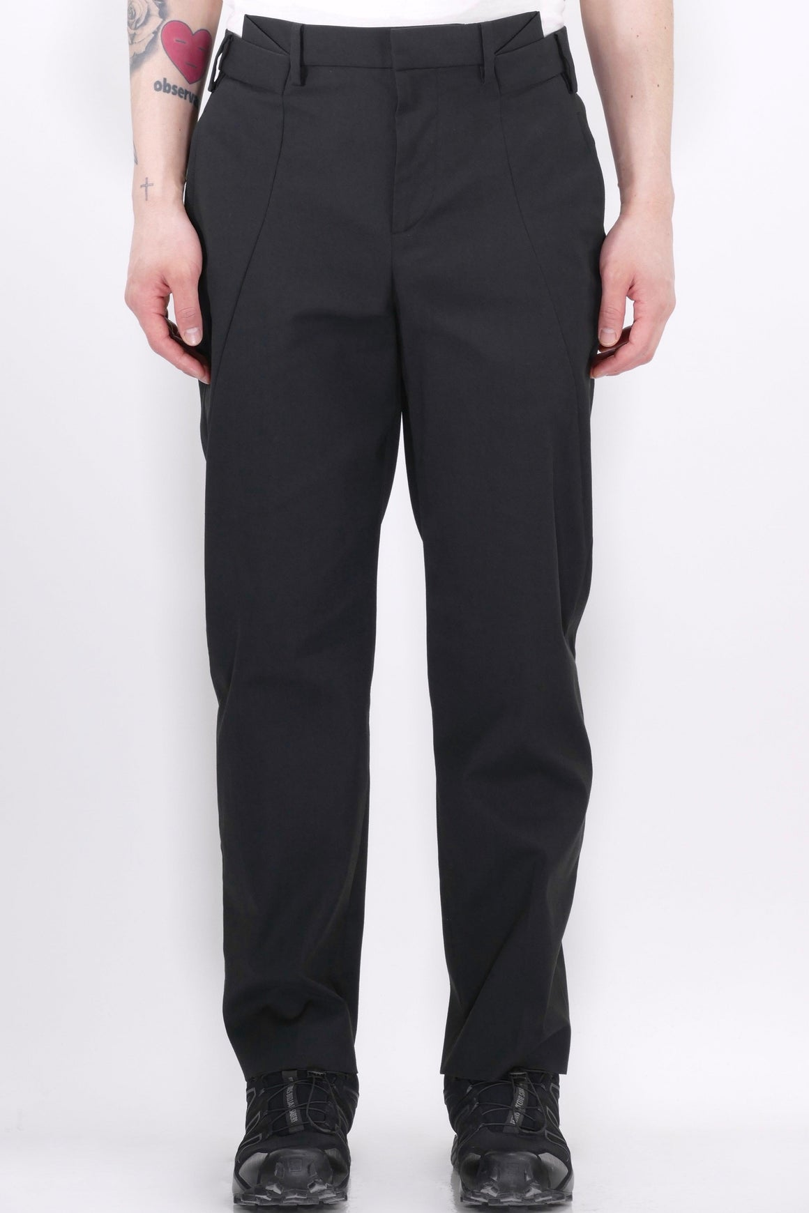 Neil Barrett Mens Pant Slim Tube Trousers Black