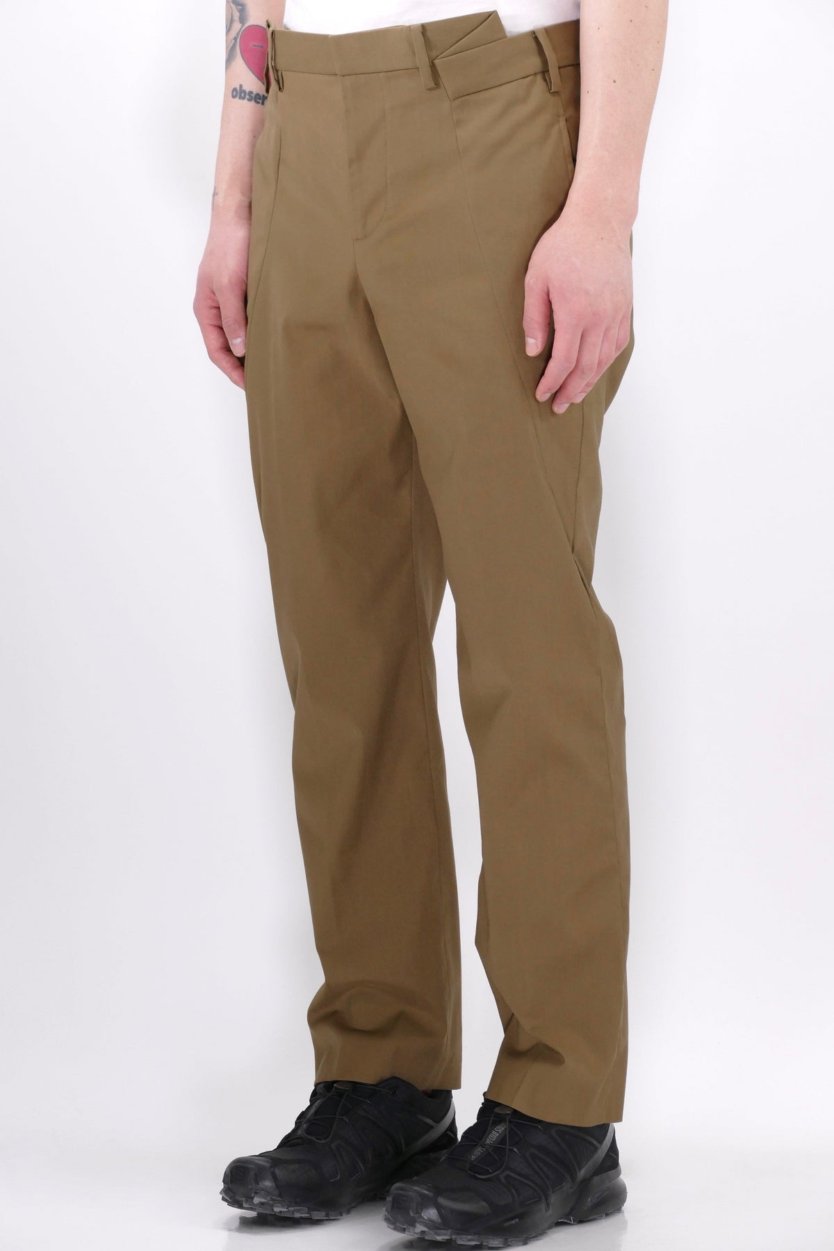 Neil Barrett Mens Pants Slim Tube Trousers Clay