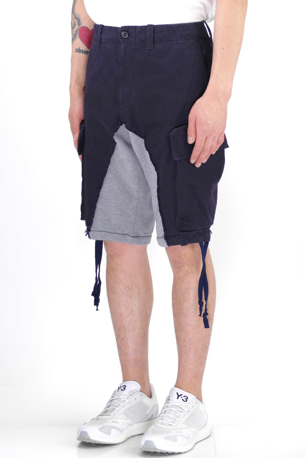 Paul & Shark + Greg Lauren 50/50 Shorts Navy