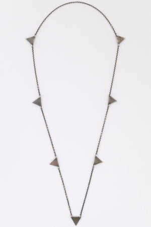 M. Cohen Geometrical Triangle Necklace Silver