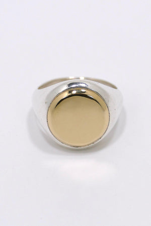 M. Cohen Signet Ring Sterling Silver/Gold