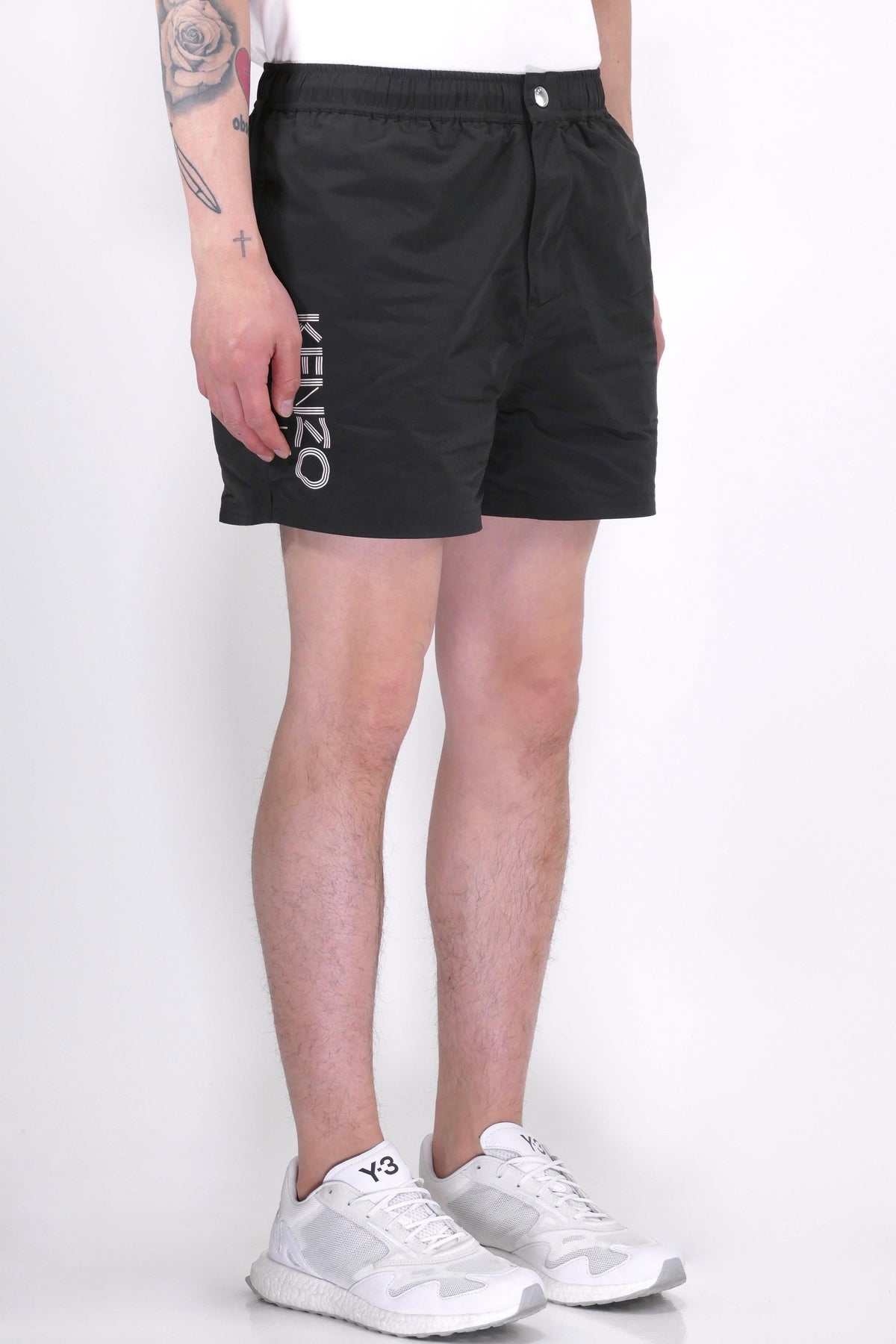 Kenzo Paris Logo Swim Shorts Black