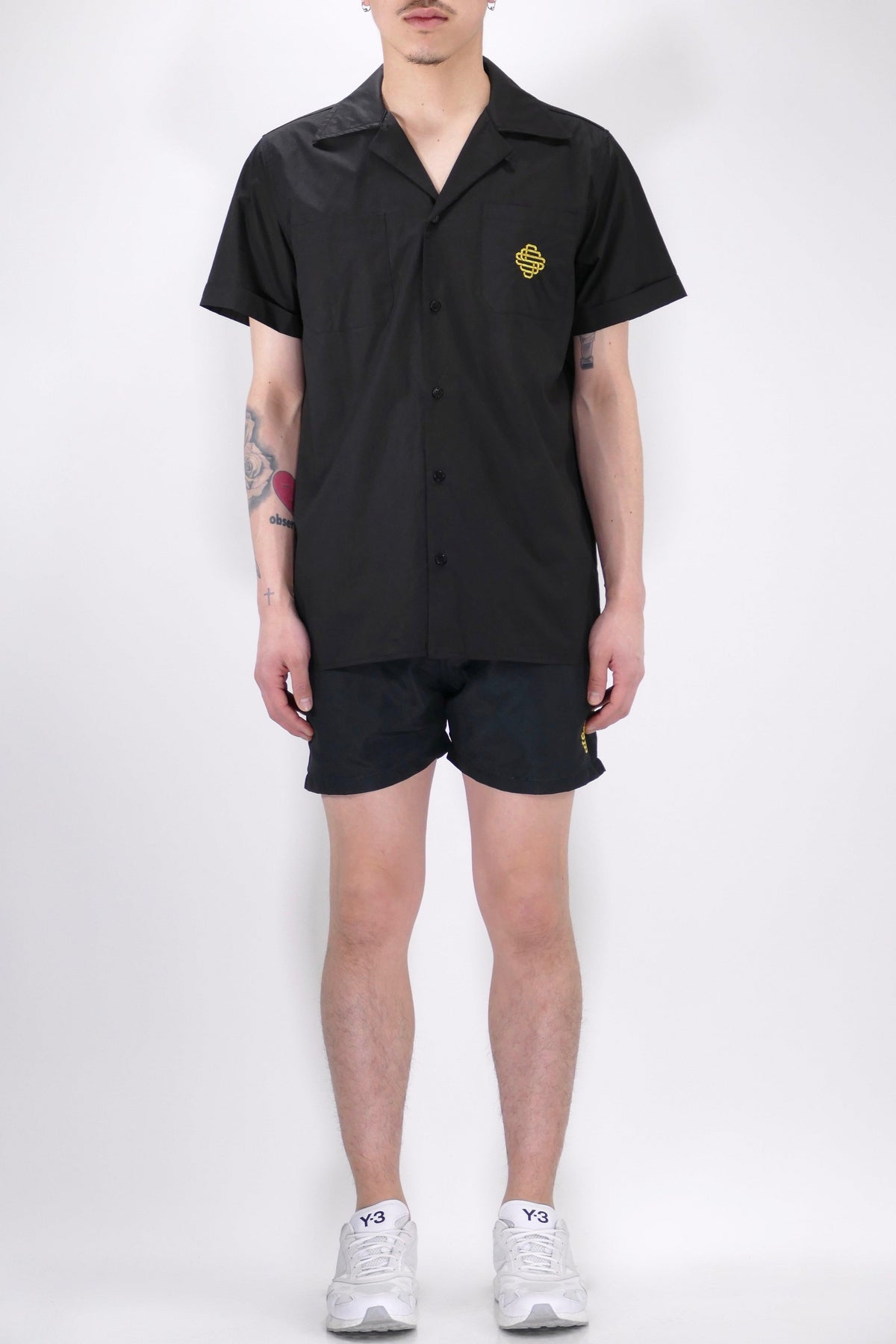 SSS World Corp Cuban Short Sleeve Shirt Black