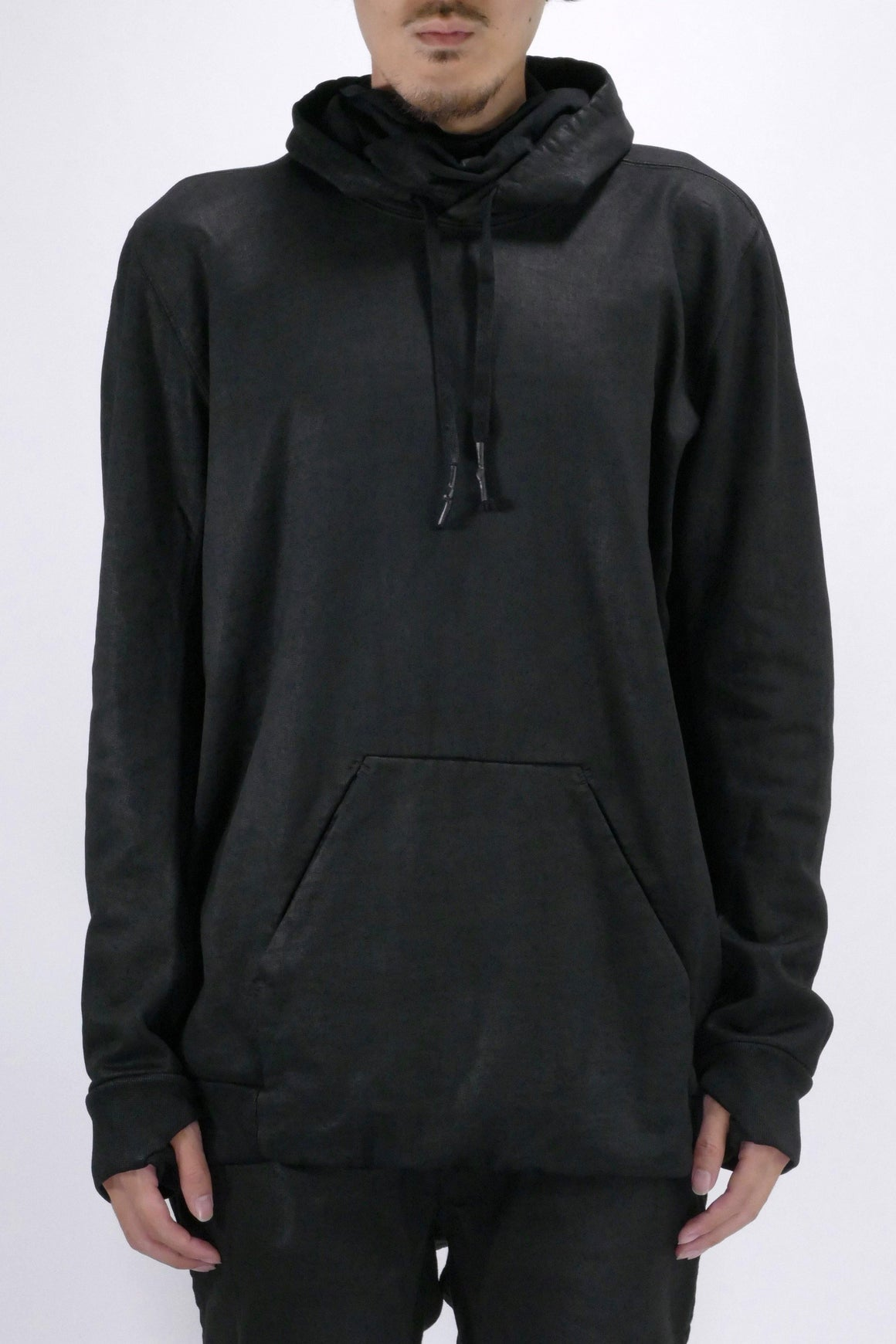 11 by Boris Bidjan Saberi 11 Logo Mask Hoodie Black