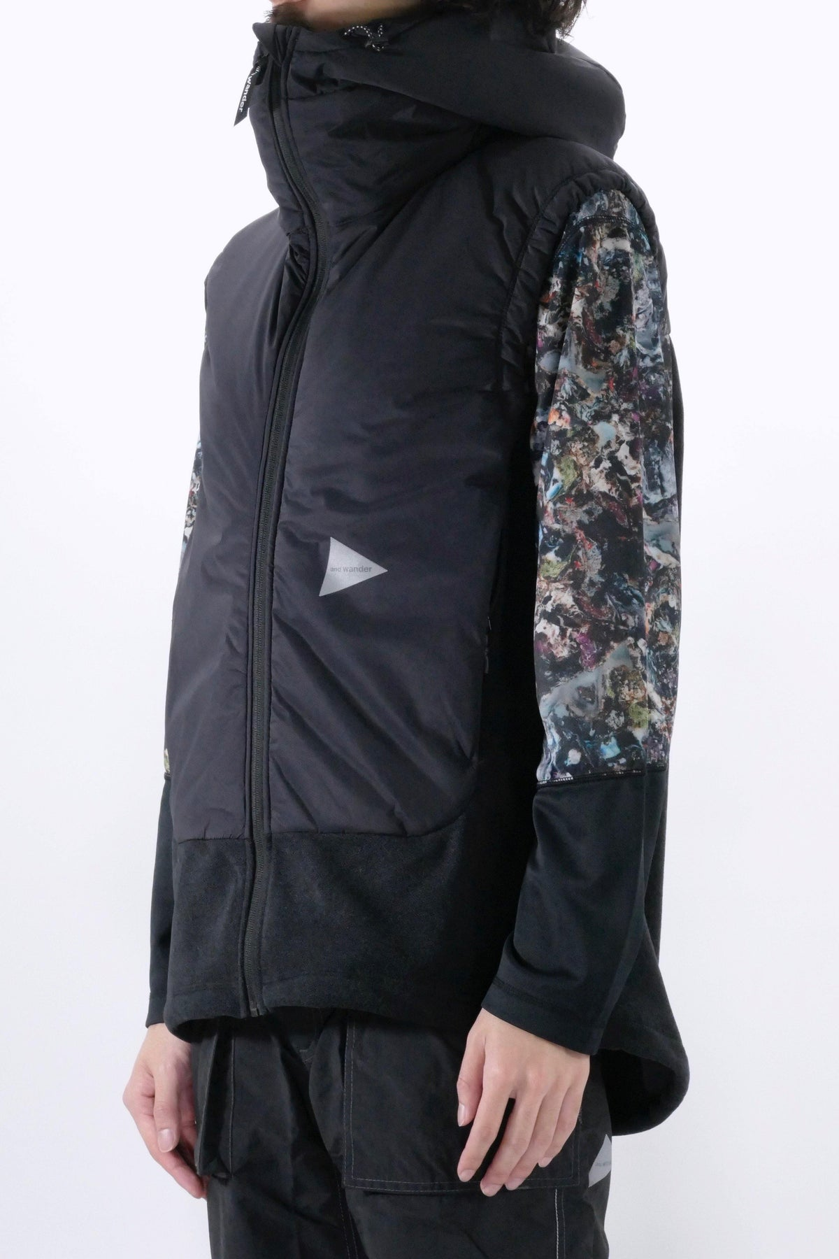 and wander Top Fleece Vest Black
