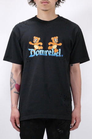 DomRebel Castle Box Holes Tee Black