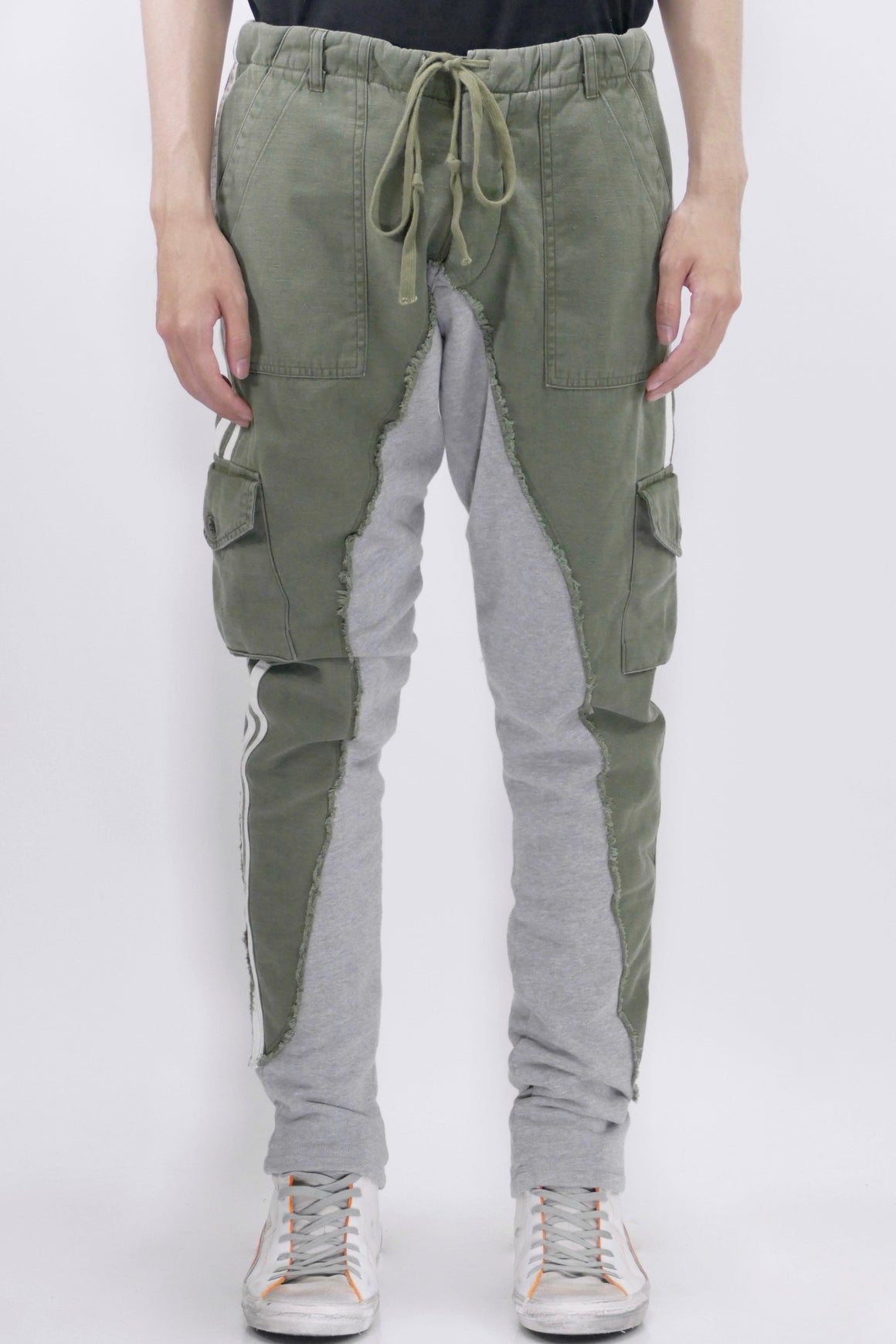 Greg Lauren Baker/Fleece Long Slim Pants Army