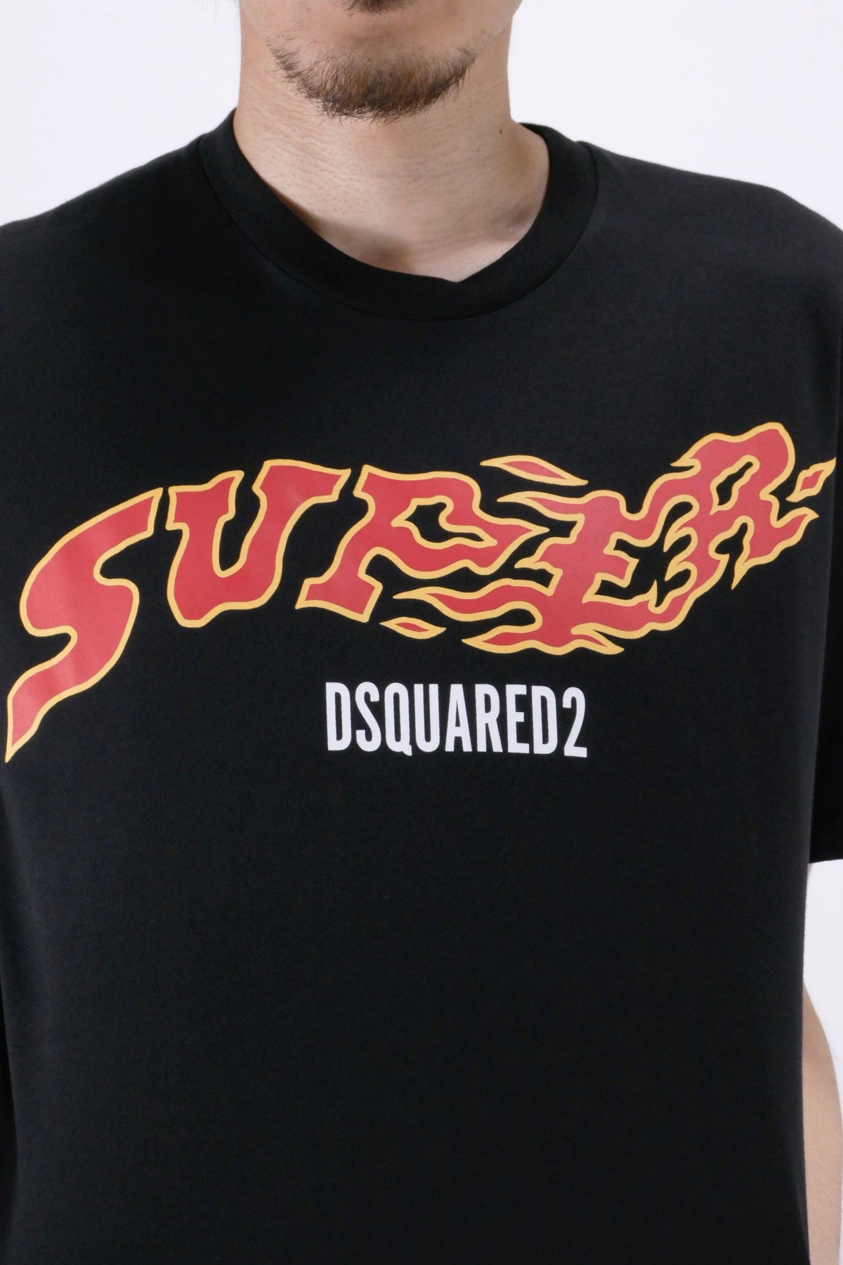 DSquared2 'Super' Logo Tee Black