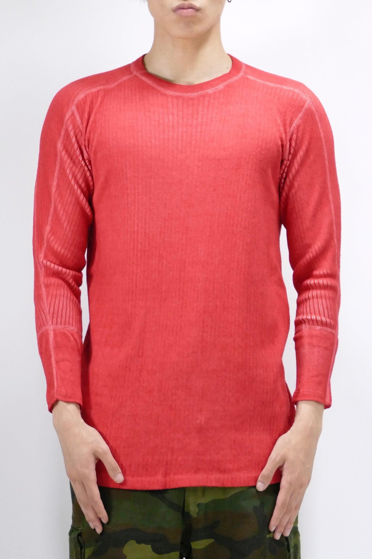 Myar Swedish Long Sleeve Ribbed Tee Red
