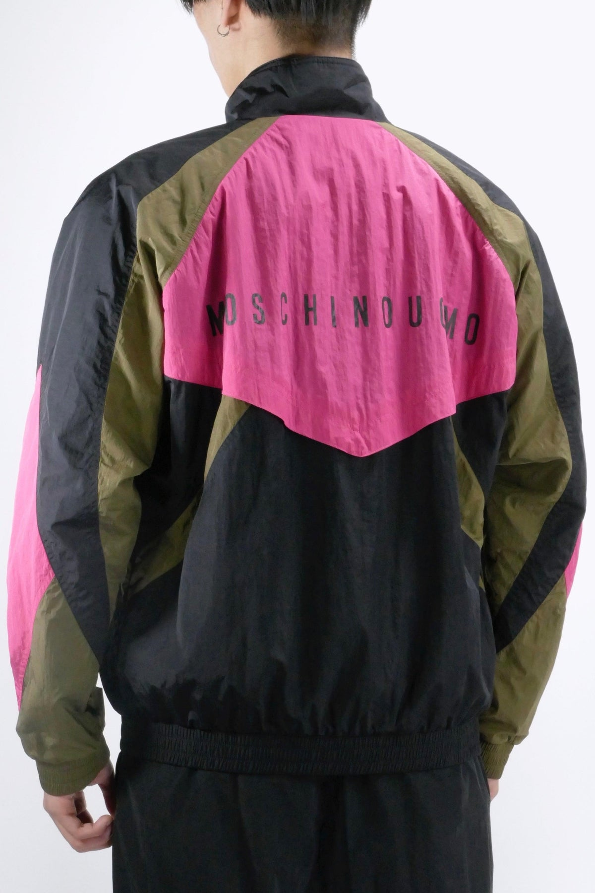 Moschino Nylon Windbreaker Colour Block Black