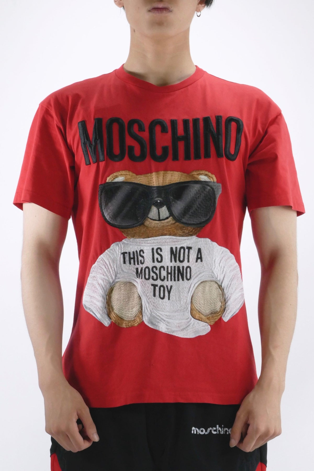 Moschino Micro Teddy Bear T-Shirt Red