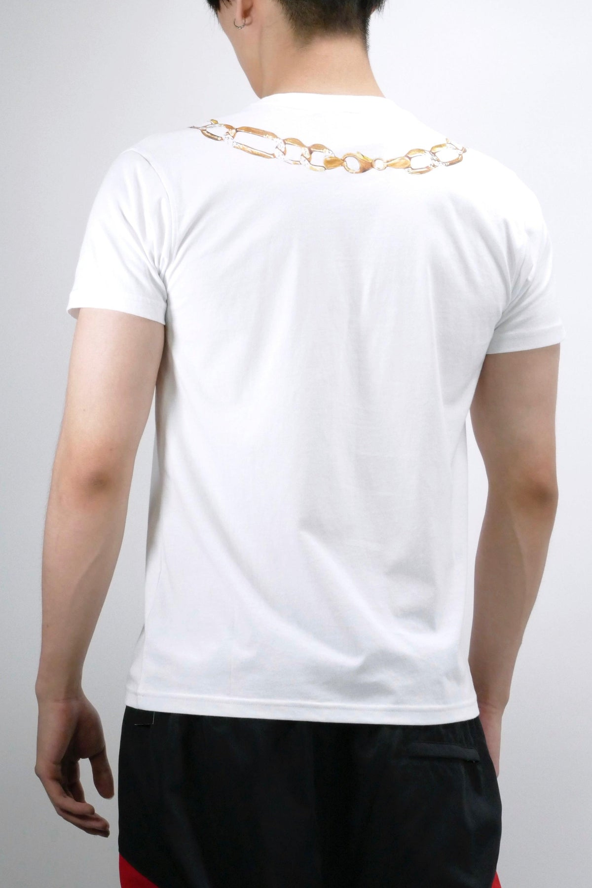 Moschino Macro Necklace T-Shirt White