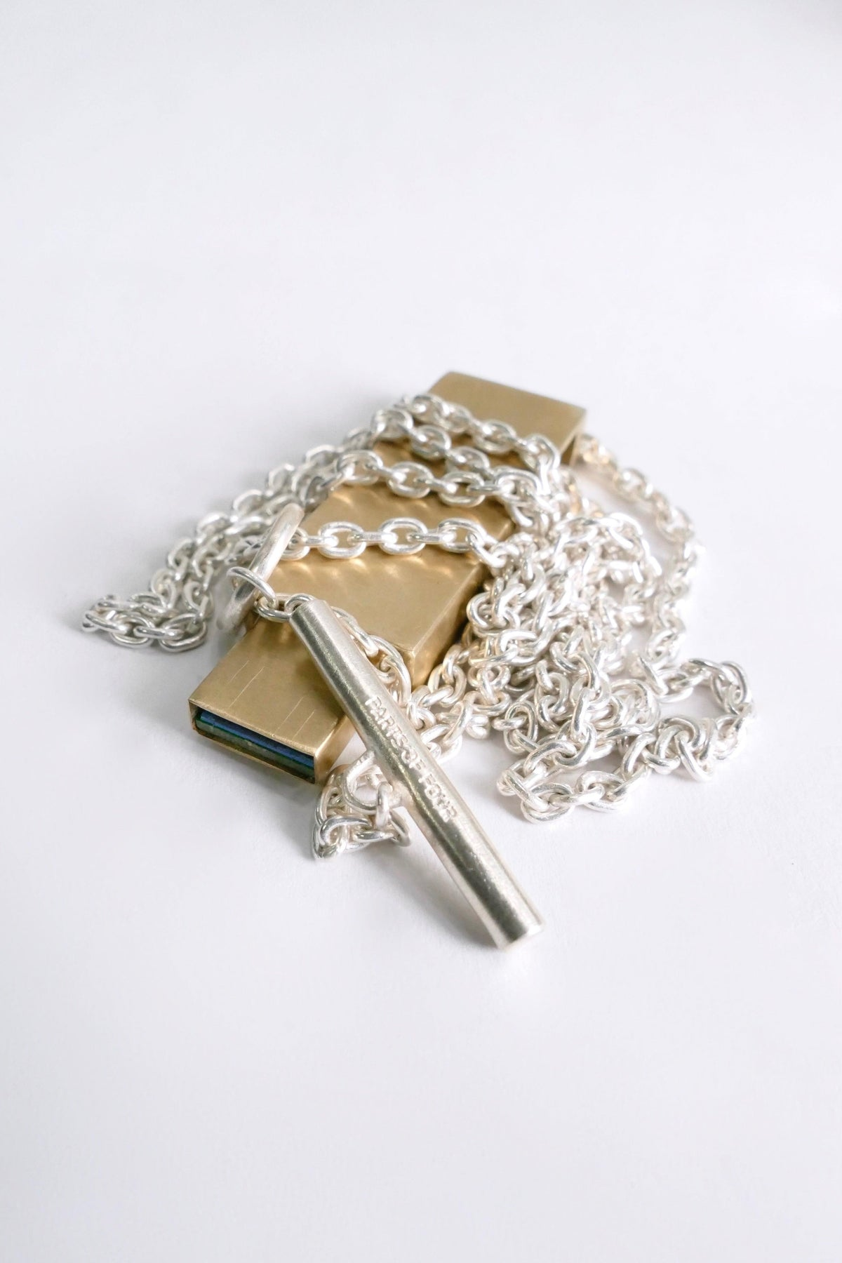 Parts of 4 Necklace USB V4 Brass
