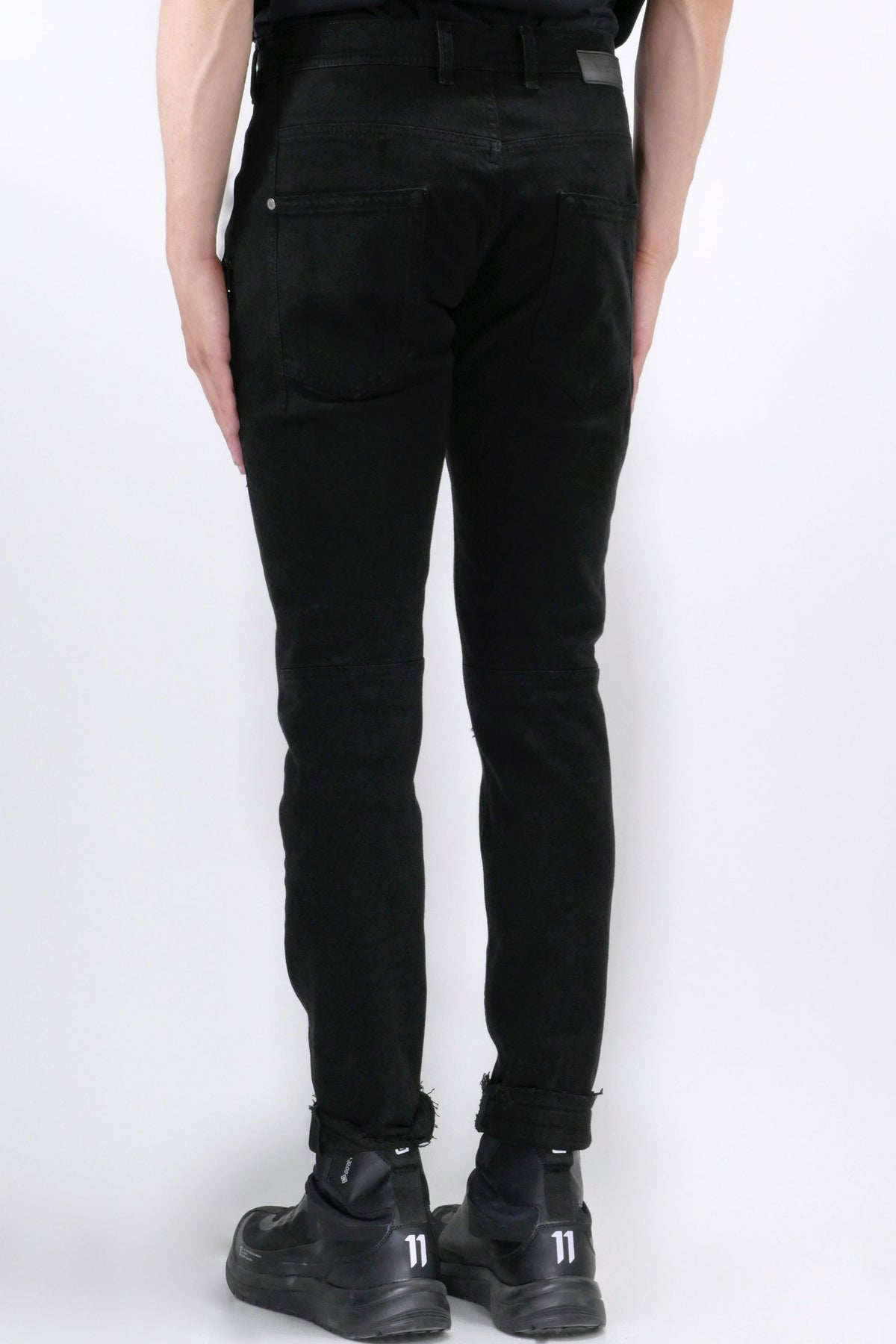 Neil Barrett Extreme Distressed Jeans Black