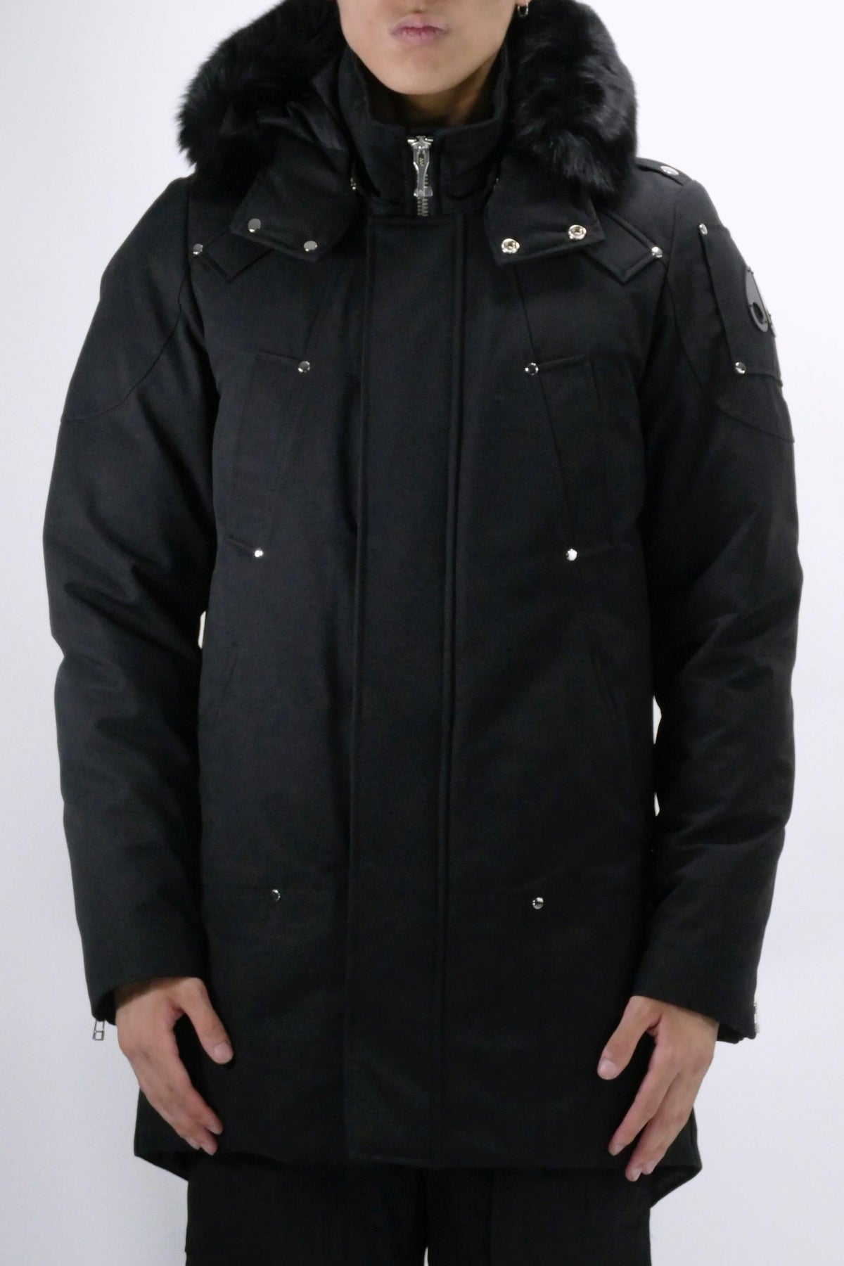 Moose Knuckles Mens *Parka Stirling Parka Black/Black