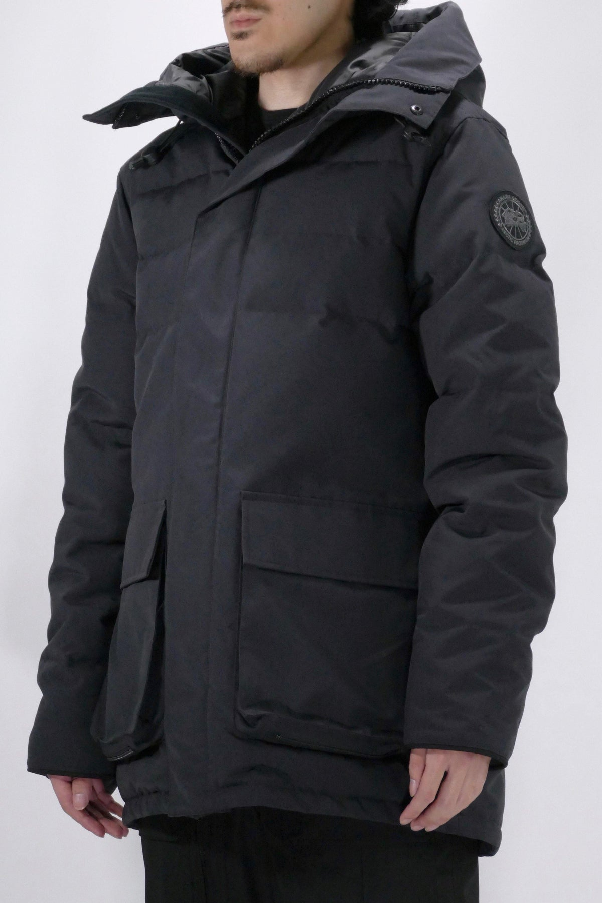 Canada Goose Mens Parka Wedgemount Black Label - Navy