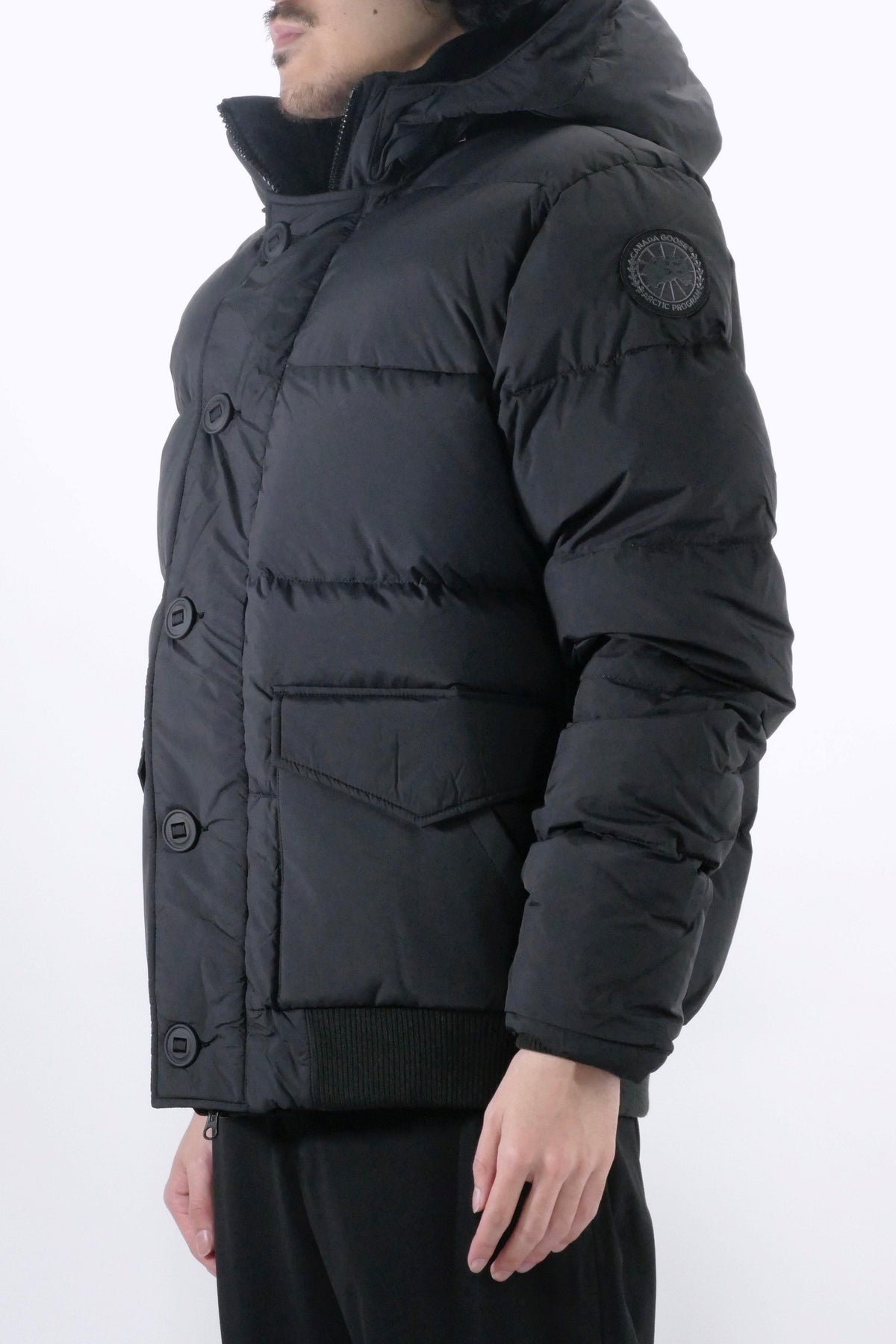Canada Goose Mens Parka Ventoux Black Label - Matt Black