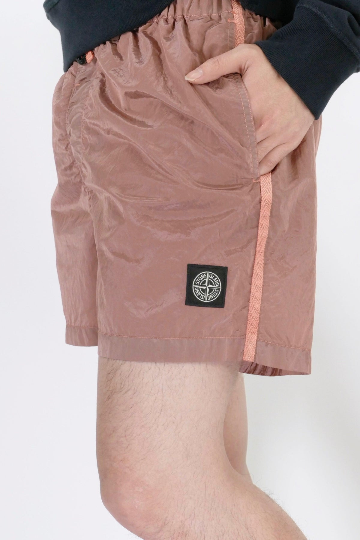 Stone Island Nylon Metal B0643 Swimshort - Rose Quartz