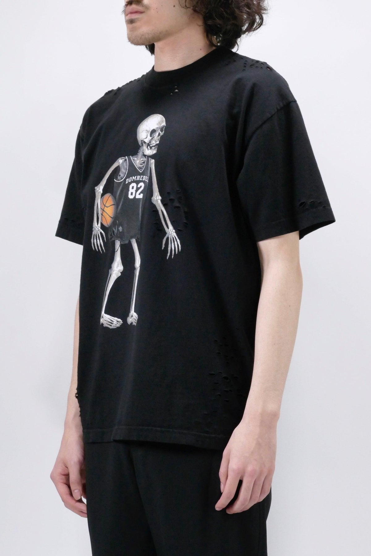 DOMREBEL Skeleball Holes Box Tee - Black
