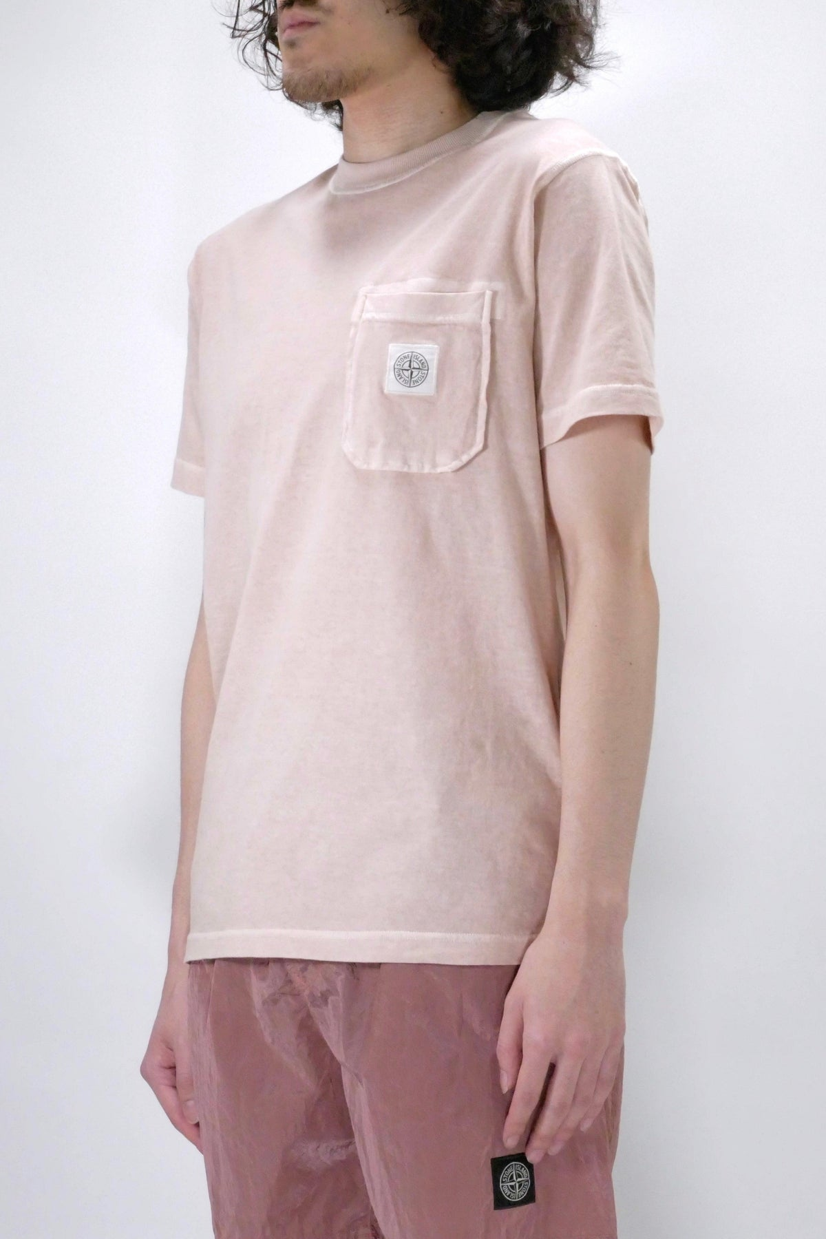 Stone Island 21957 'Fissato' Treatment Tee Antique Rose