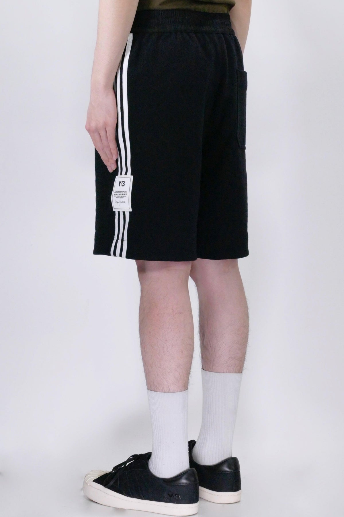 Y-3 3-Stripe Terry Short - Black