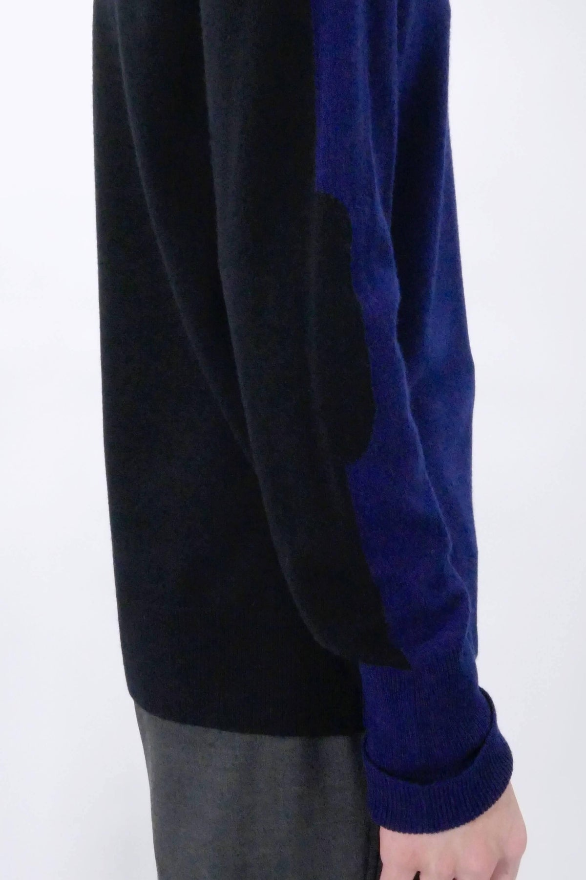 Neil Barrett Contrast Back Sweater - Navy/Black
