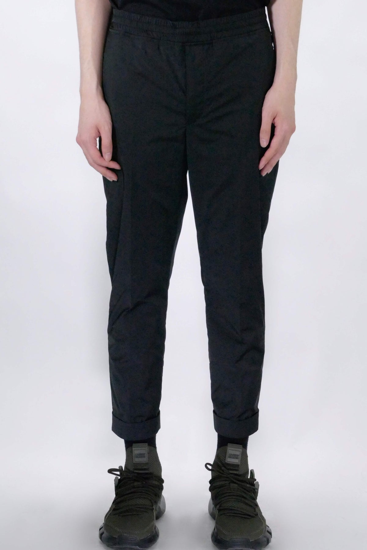 Neil Barrett Minimalist Slim Nylon Pant - BLACK