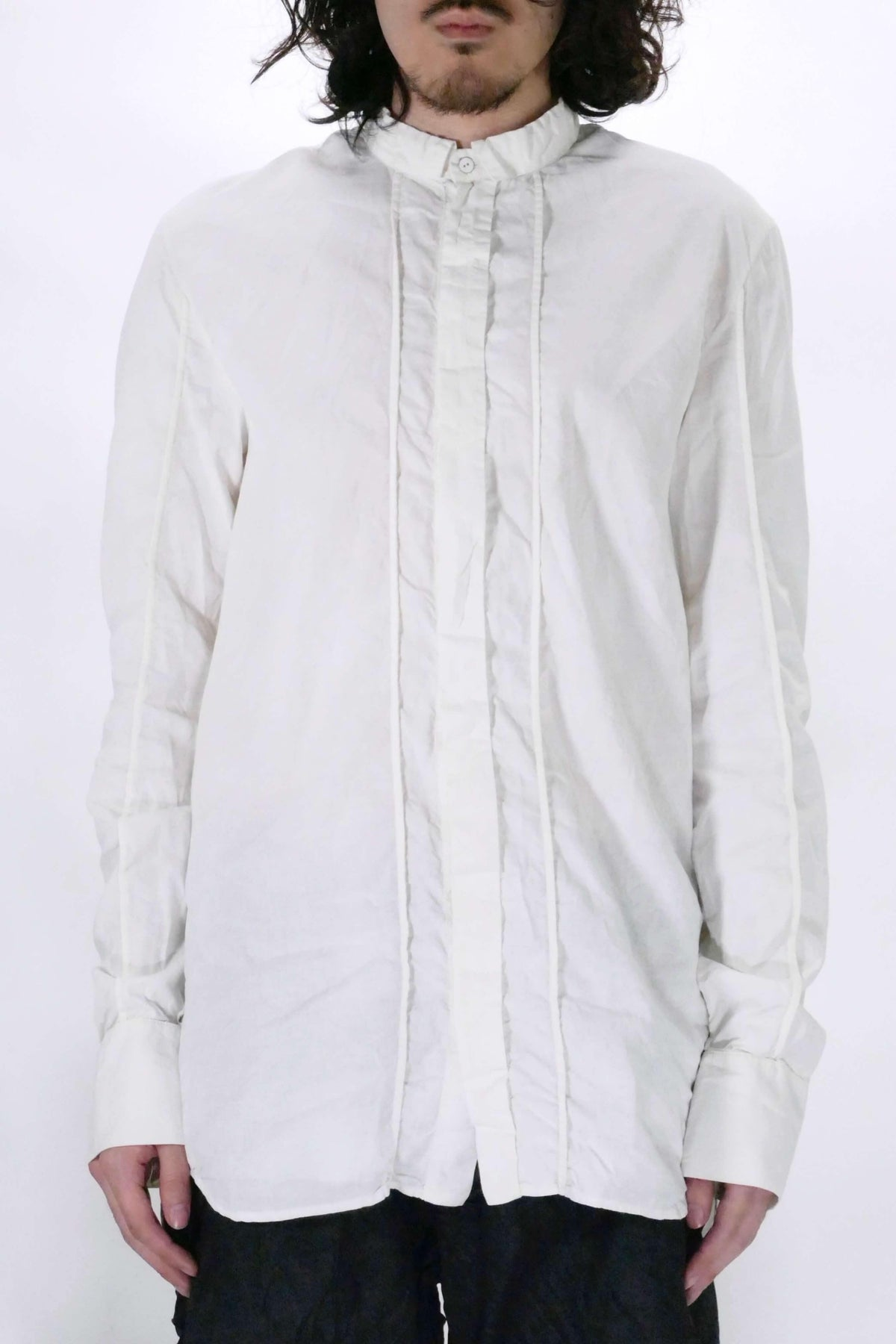 Masnada Creased Shirt - White