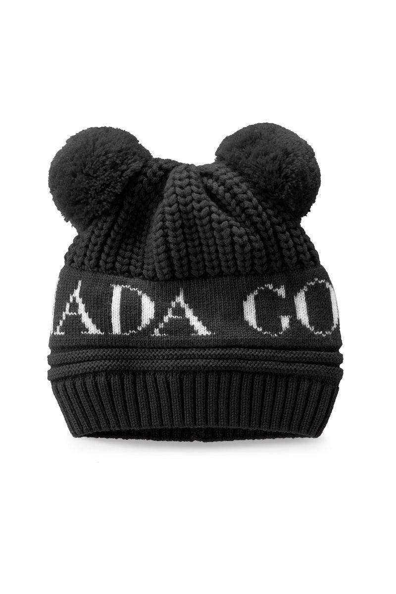 Canada Goose Baby Winter Accessories - Double Pom Hat - Black