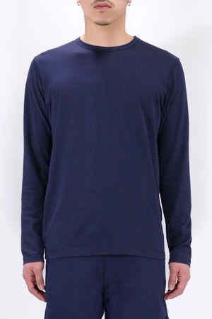 Sunspel Long Sleeve Crewneck Navy