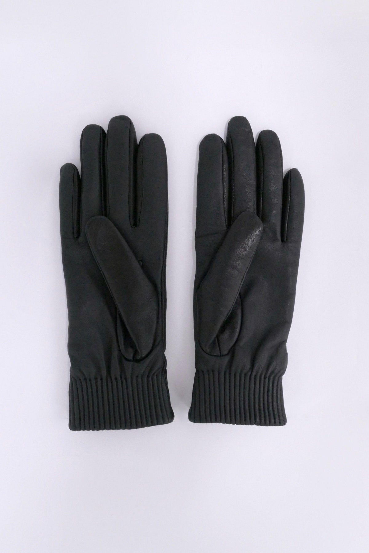 Canada Goose Womens Winter Accessories Gloves and Mitts Leather Rib Glove Black