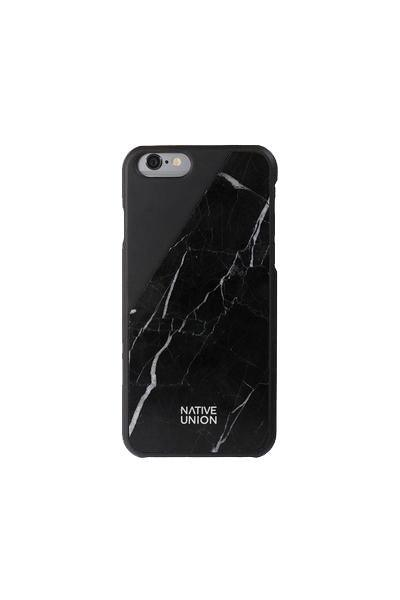 Native Union Clic Marble Black iPhone Case