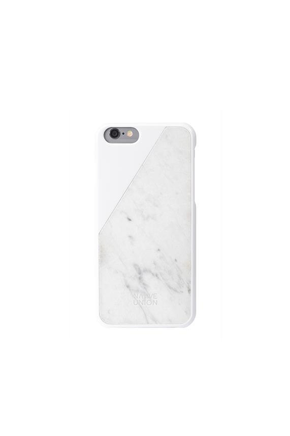 Native Union Clic Marble White iPhone Case