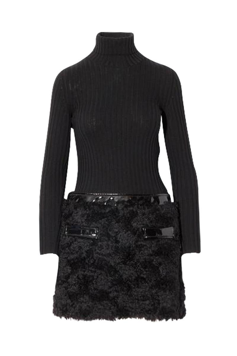 Moschino Womens Turtleneck Dress