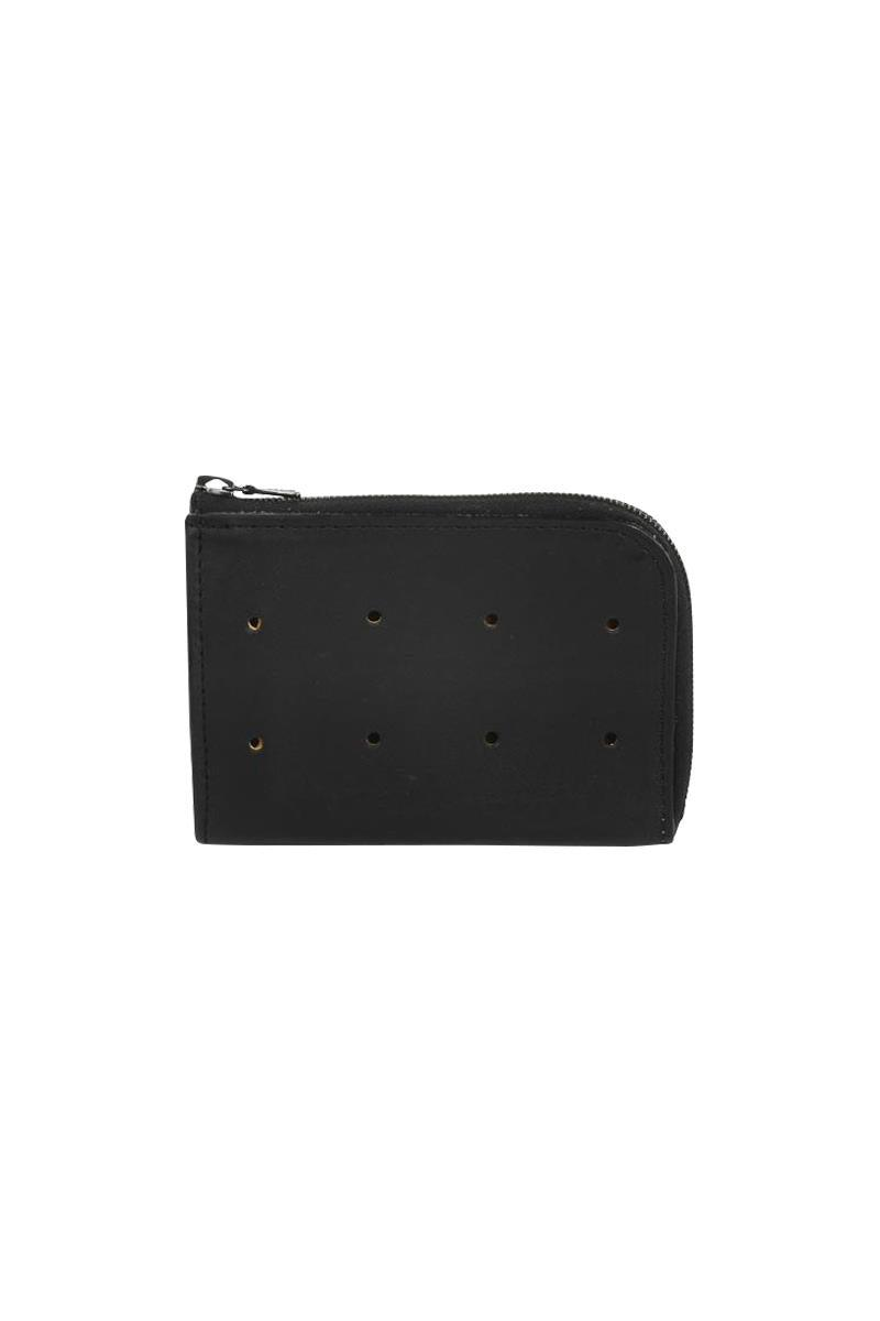 Isaac Reina Zipped Wallet Case Black
