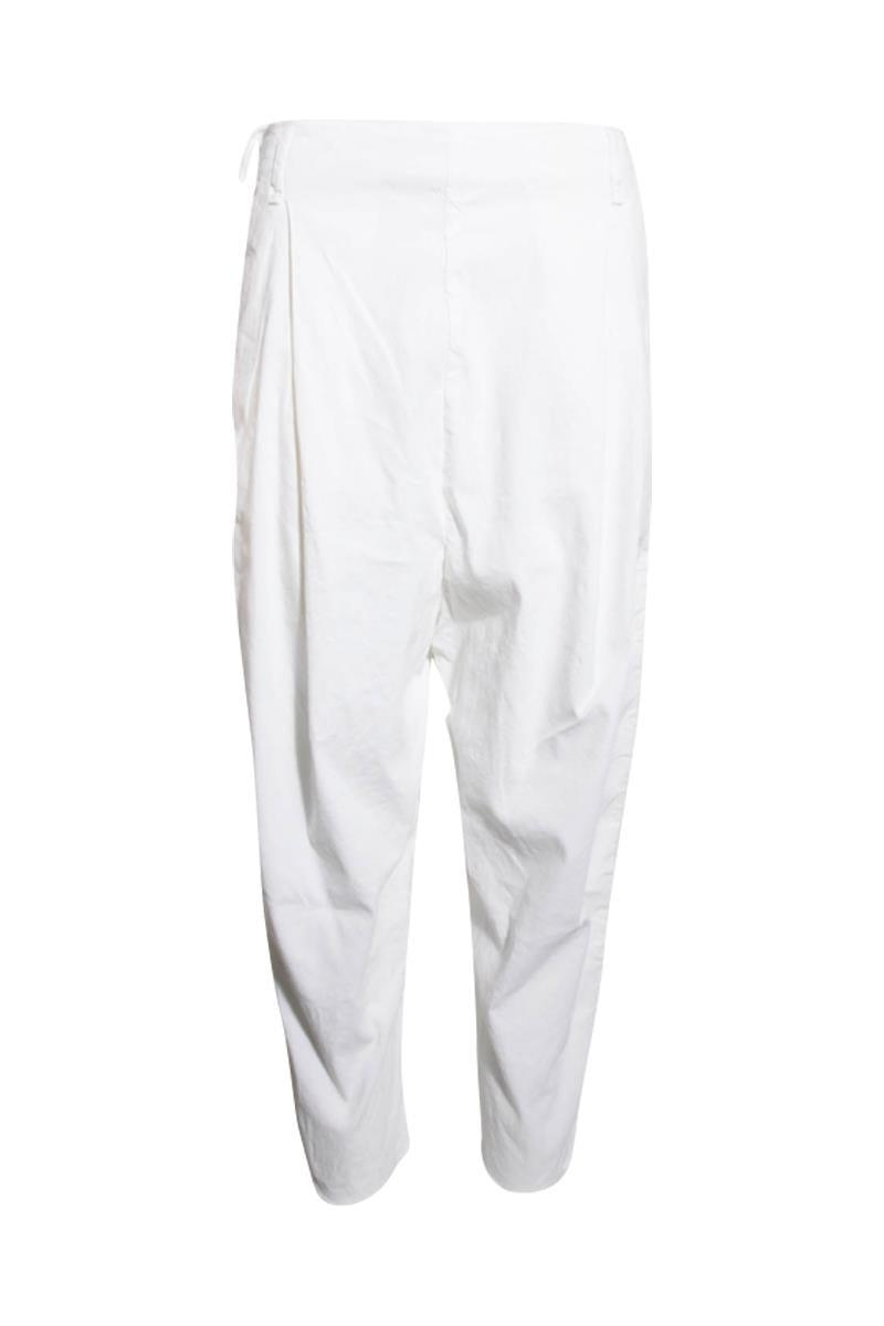 Masnada Womens Linen Pants White