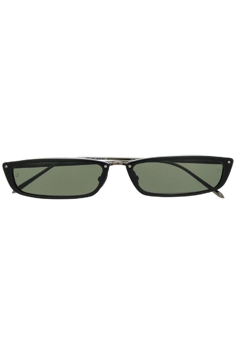 Linda Farrow Rectangular Sunglasses Black
