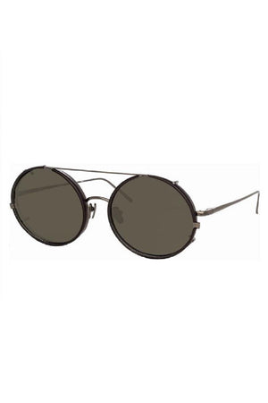 Linda Farrow Round Eye Sunglasses Black
